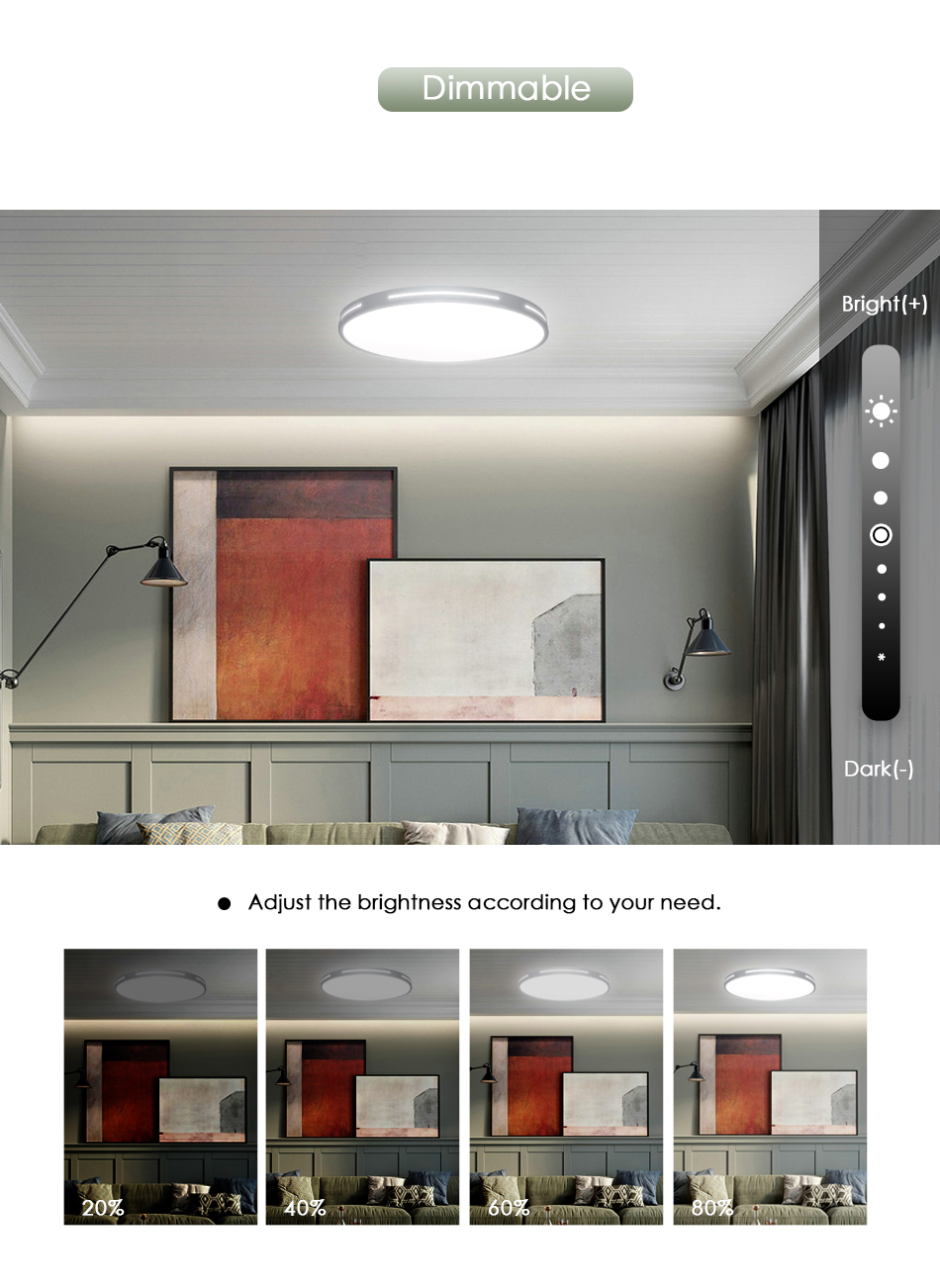 HTB1063TXKL2gK0jSZFmq6A7iXXay Modern LED Ceiling Light Lamp Lighting Fixture Surface Mount Flush Remote Control Dimmable 18W 48W Living Room Bedroom Balcony