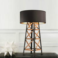 Modern Fashion Study Room Lampara de Pie Hotel Living Room Standing Lights Black shade Metal desk Lamp Gold Standing table Lamps