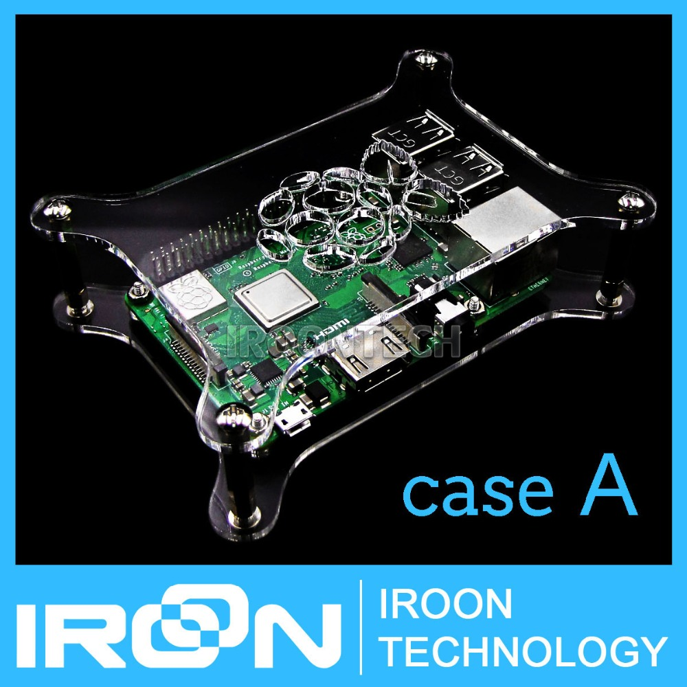 Transparent Case Cover Shell Enclosure Box For  Raspberry Pi 3 B 2 B B+