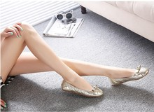 2015 Hot's new Women's soft bottom bowknot Flats shoes ballet shoes Fashion canvas flat shoes Large size 35-41 free shipping