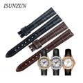 ISUNZUN Women's Watch Strap For Tissot Carson T085 Watchbands Styles 14mm Leather Watch Band Free Shipping