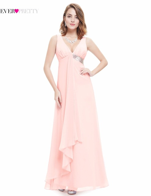 [Clearance Sale] Bridesmaid Dresses Ever Pretty HE09981 V-neck Flow Ribbon Sequined 2017 Summer Style Long Sleeveless Dress