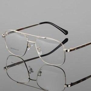Image 4 - Mode Retro Metall Große Box Runde Brille Rahmen Myopie Männer Brillen Optische Verordnung Doppel Brücke Brillen
