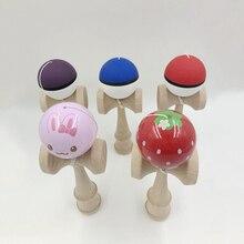 18X6X7 см, мультяшный шар Kendama, деревянные игрушки, умелые игры для жонглирования, мяч для спорта и отдыха, игрушки из искусственной кожи, игрушки для взрослых и детей