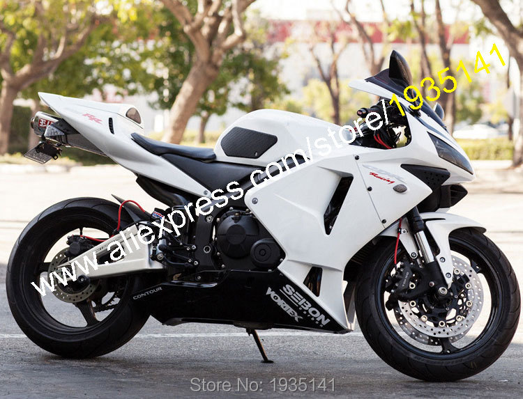 Hot Sales,For Honda CBR600RR 03 04 CBR 600 RR 600RR F5 2003 2004 White Black Aftermarket Motorcycle Fairing (Injection molding)