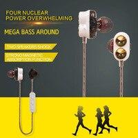 Dual Speaker M2 Bluetooth Headphone Ecouteur Stereo Wireless Headphones APTX Music Earphone HD Mic Magnet Adsorption