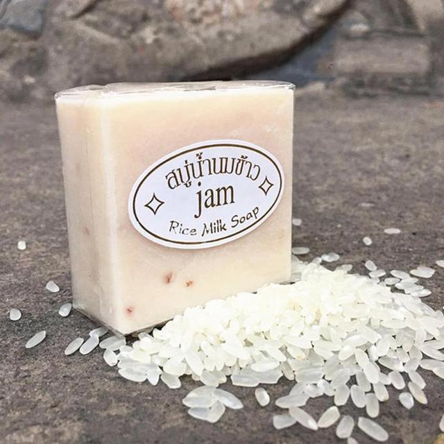 יד סבון תאילנד יסמין אורז בעבודת יד קולגן ויטמין עור הלבנת רחצה כלי אורז חלב סבון הלבנת סוכנים אקנה סבון
