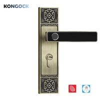 Отпечаток пальца умный бескнопочный электронный винтажный дверной замок для дома и офиса и отеля с резервным ключом