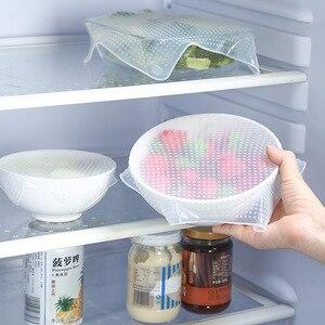 Image 3 - מזון כיתה סיליקון לעטוף כיסוי מטבח מקרר טרי כיסוי שקוף חותם כיסוי לשימוש חוזר קערת כיסוי
