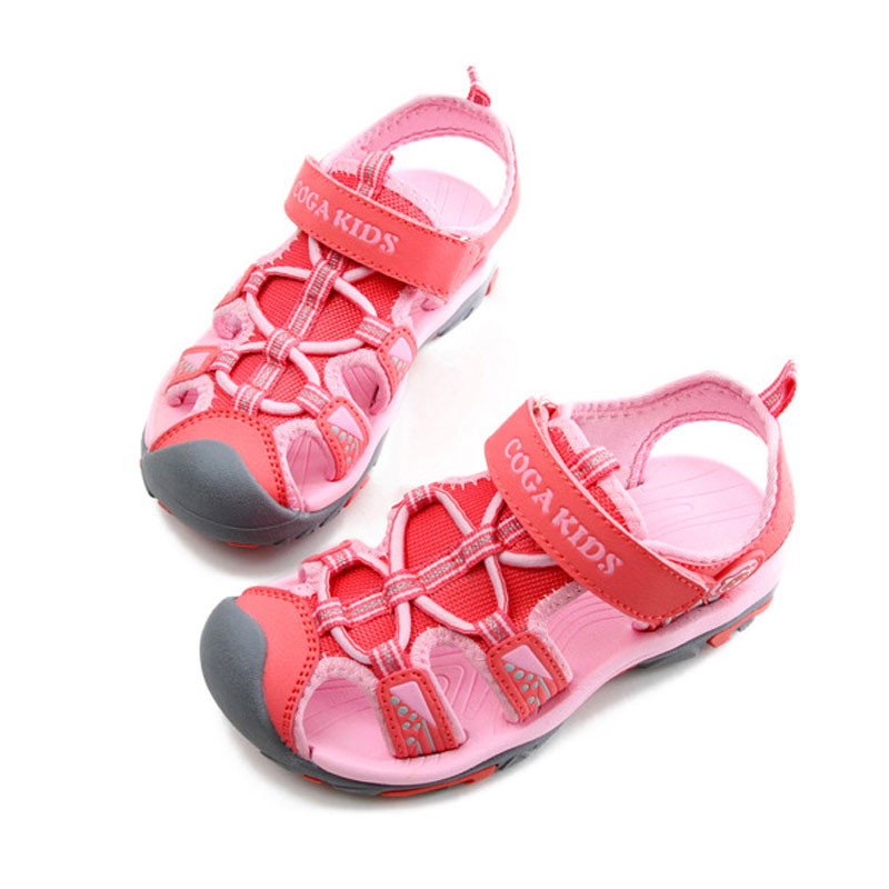 Closed Toe Summer Beach Shoes Sandals for The Boy Girls Cut-outs Anti-slippery Rain Shoes Size 25-37 Kids School Footwear Shoes