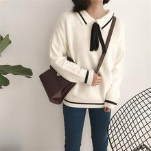 Women's Casual Sweaters Japanese Kawaii Korean Ulzzang Sweet Lace-up Sweater Female Harajuku Punk Cute Clothing For Women