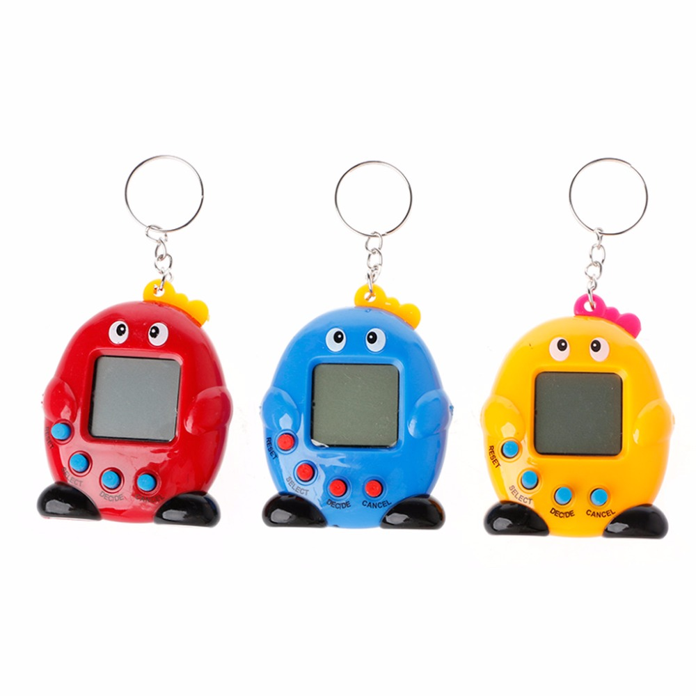 Cartoon Penguin Electronic Pet Mini Hand-hold Game Machine Gifts Toys