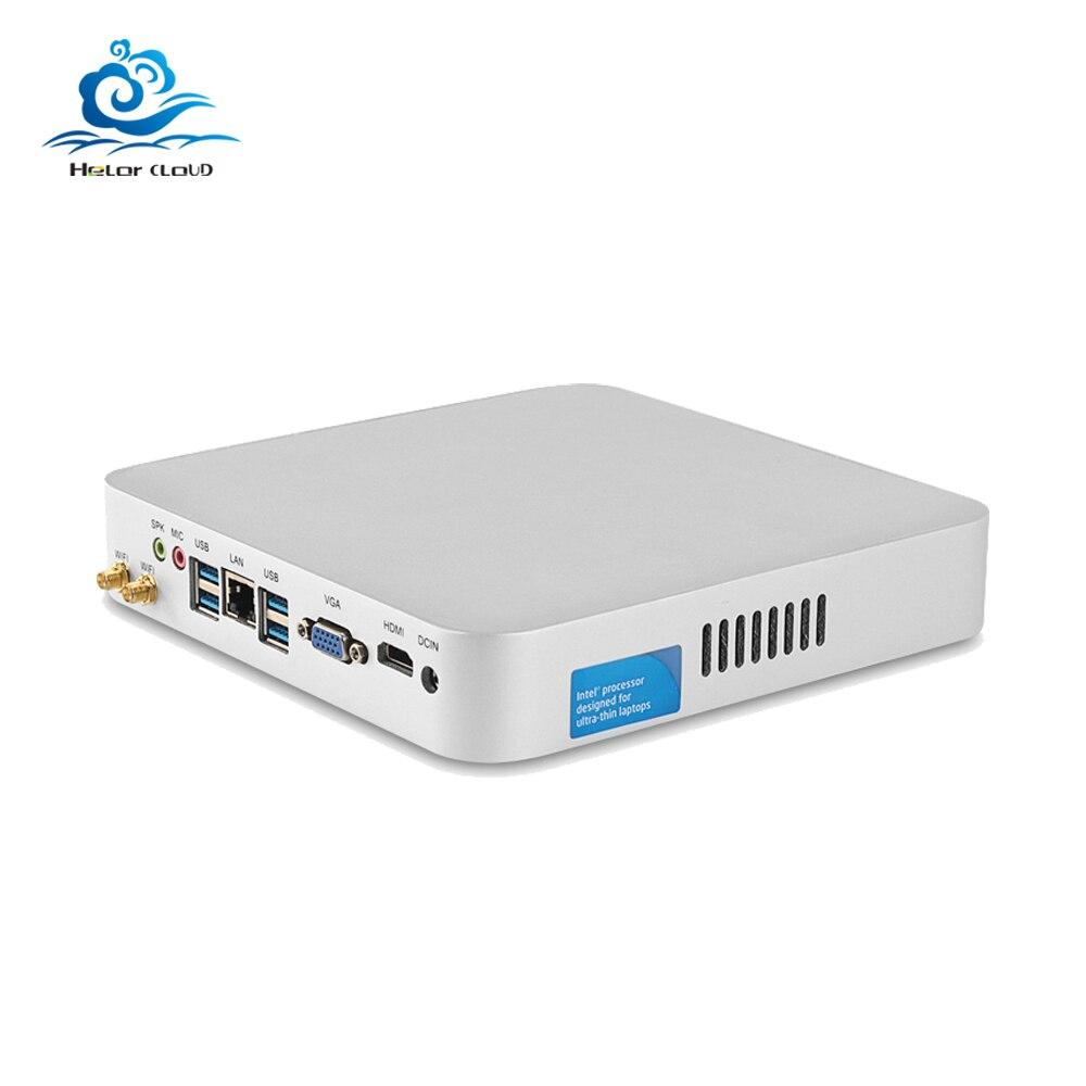 HLY Core i7 7500U i7 6500U Mini PC Windows 10 Barebone DDR3L RAM Mini ordinateur HTPC Nuc minipc HDMI Wifi usb3.0 i7 pc