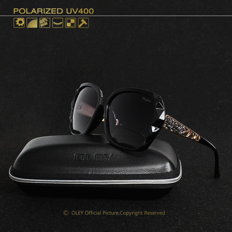 OLEY Oversized Sunglasses Women Luxury Brand Design Elegant polarized Glasses Female Prismatic spectacles Oculos De Sol mulher