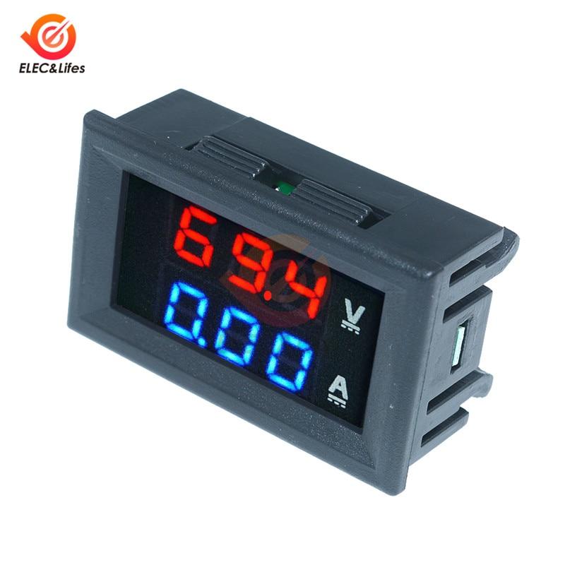 HTB1065IaJfvK1RjSszhq6AcGFXaV DC 0-100V 10A 50A 100A Electronic Digital Voltmeter Ammeter 0.56'' LED Display Voltage Regulator Volt AMP Current Meter Tester