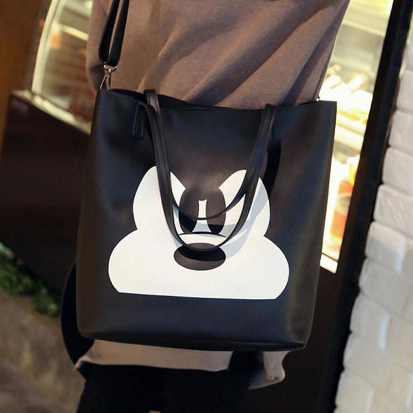 magasin en ligne 45ef3 0a7ef € 5.49 |Sac à bandoulière Mickey minnie pour femme sac à main en cuir PU  pour femme grand sac à provisions pour femme sac à bandoulière Bolsas ...