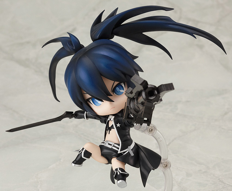 """Image 3 - Cute 4"""" 10cm Nendoroid Black Rock Shooter #246 TV Animation Ver. PVC Action Figure Model Collection Toy KT1989-in Action & Toy Figures from Toys & Hobbies"""
