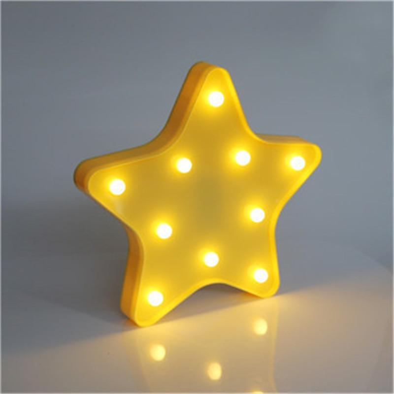 New Design Star Shaped Led Nightlamp Novelty Star Night Light Warm