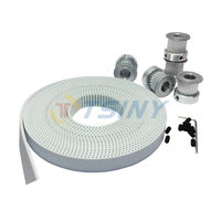 HTD 3M PU Timing Belt Open Ended White 5 Meters Belt Width 15mm + 5pcs 24 Teeth Aluminium Alloy Pulley for 3D Printer Accessorie