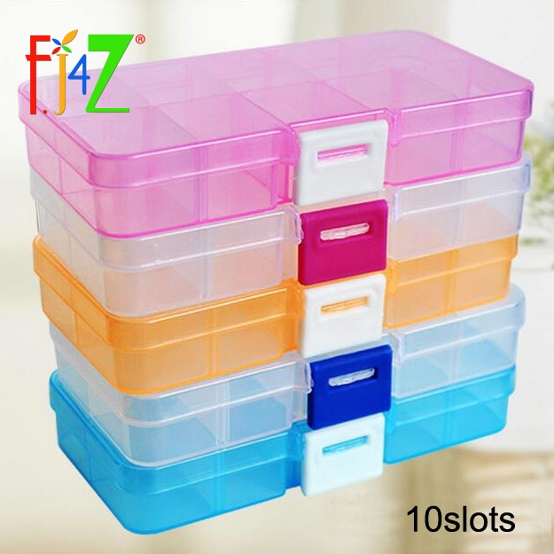 Jewelry Storage Cases 5colors DIY 10slots Small Rings Earrings ...