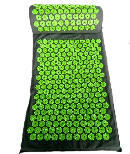 Yoga Acupressure Massage Cushion Body Pain Stress Relief Acupuncture Massage Mat Spike Yoga Mat with Pillow Body Massager yoga mat acupressure massage mat with pillow body pain stress relief acupuncture spike yoga cushion health massager care