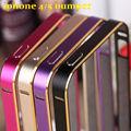 Case para apple iphone 5 5s 2016 nuevo para el iphone 5s case de aluminio del metal + acrylic case sobre iphone 5s accesorios del teléfono protectora