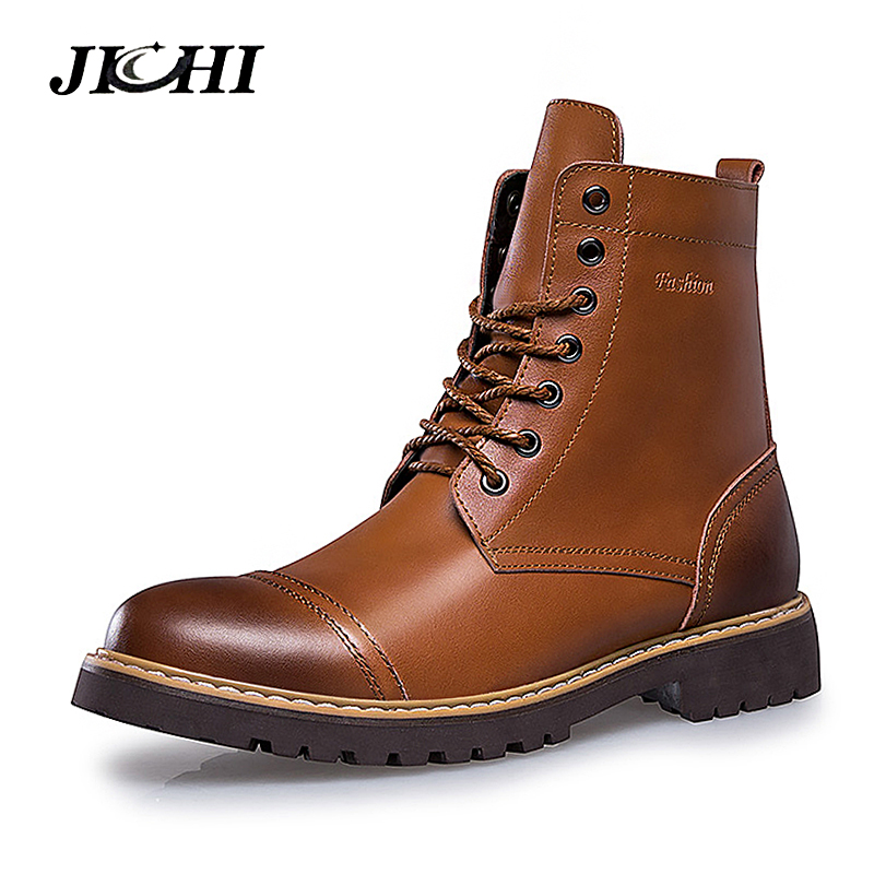 HOT Sale Autumn Winter Casual Snow Boots Men Waterproof Ankle Boots Flat Slip-Resistant Fashion Man Winter Shoes Big Size