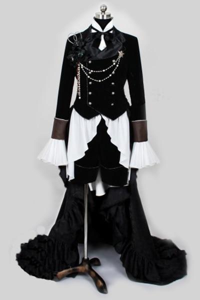Kuroshitsuji Черный дворецкий Ciel Phantomhive косплей костюм наряд платье