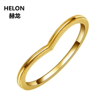 Solid 10k Yellow Gold Engagement Ring for Women Anniversary Wedding Band Trendy Party Fine Jewelry Birthday Valentine's Day Gift