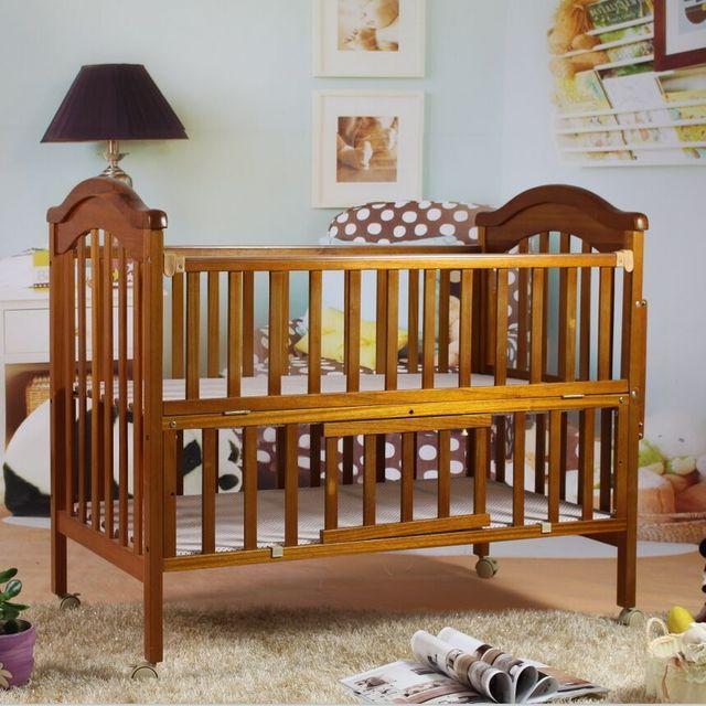 Cunas de beb Ropa de cama cuna de madera maciza tipo europeo cama