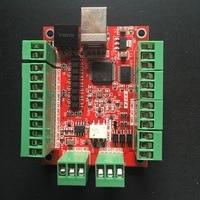 CNC USB 4 Axis MACH3 100 KHz USB Motion Control Card Breakout Board 12 24V For