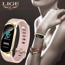 LIGE New Smart Watch Men Heart Rate Blood Pressure Monitor Bracelet Ladies Fitness Tracker Pedometer Sports + Box