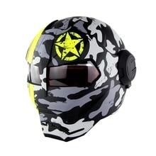 NUOVA Moto Iron Man Casco da Moto Casco Moto Capacetes casco Retro caschi Moto Da Corsa Casco Casco Motocross Casque SM-515