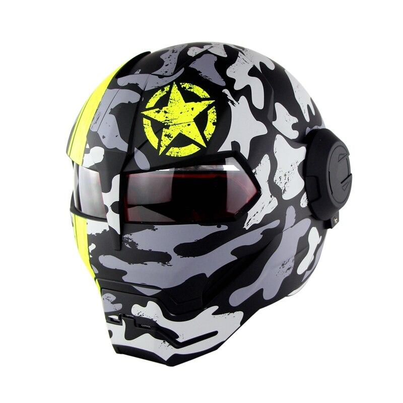 Nouveau Moto fer homme Casque Moto Capacetes Casco rétro casques Moto Racing Casque Casque Motocross Casque SM-515