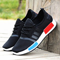 High Quality Men Casual Shoes 2016 New Arrival Men's Fashion Solid Silp-on Breathable Spring Male Plus Size Mesh Flat Shoes