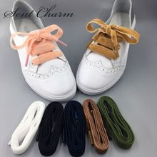 ed4e7d3e7ce6 New Arrival 1 pair SENTCHARM Double-sided Velvet Ribbon Shoelaces colorful  shoelaces 80 100. 7 Colors Available
