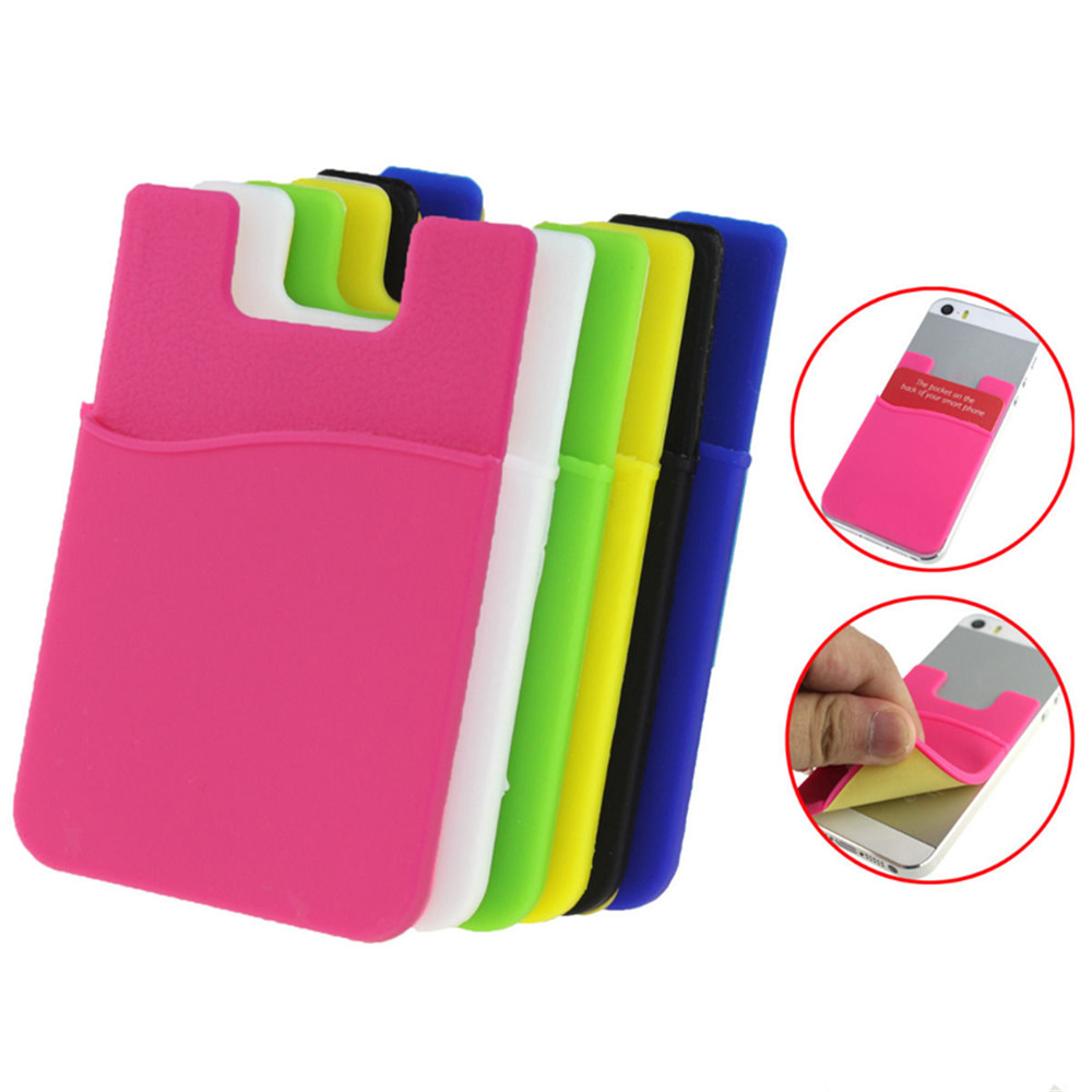 1PC Nice Fashion Adhesive Sticker Back Cover Card Holder Case Pouch For Cell Phone Free Shipping