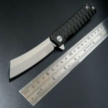 New Item Bearing folding knife blade knife D2 steel 58-60HRC tanto point blade TC4 titanium alloy handle knife
