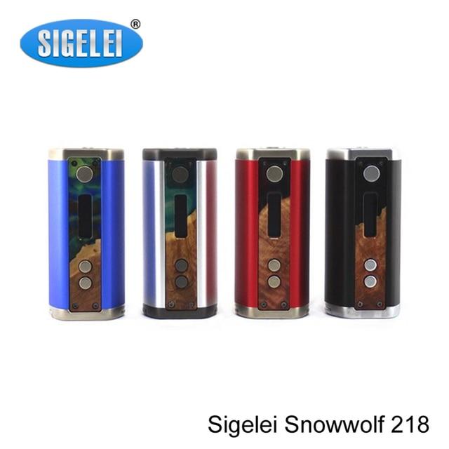 100% Оригинал Sigelei Snowwolf 218 Mod 0.1 0.5-3.0ohm 10 Вт-218 Вт TC Snowwolf Мод 218 Электронные Сигареты жидкостью vape Mod