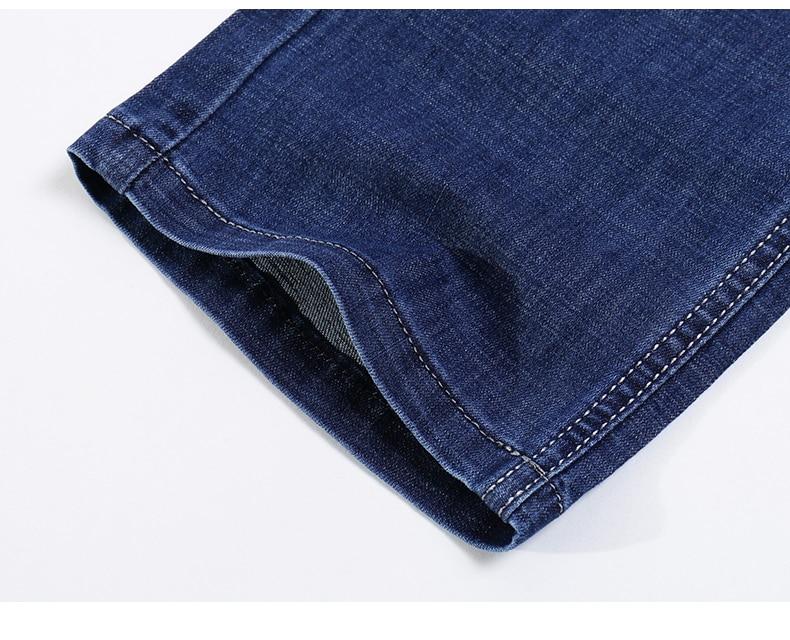KSTUN Jeans for Men Summer Ultrathin Business Casual Straight Dark Blue Regular Fit Soft  Men's Clothes Businessman Denim Pants 19