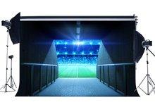 ملعب لكرة القدم خلفية ملعب نهج بوابة المدرسة لعبة الخلفيات خوخه أضواء للمسرح الأخضر خلفية