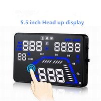 New 5 5 Inch Universal GPS HUD Head Up Display Dashboard Mounted Projector For Speed Data
