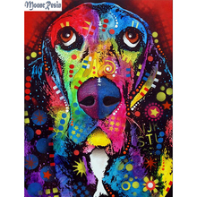 MOONCRESIN 3D Diamond Mosaic Painted Dog Embroidery Needlework Diy Painting Cross Stitch Decoration Sticker Kits