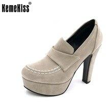 KemeKiss Tamaño 33-43 Señoras de la Plataforma Gruesos Zapatos de Tacón Alto Tobillo de Las Mujeres Bombas de Tacón Alto de Marca Mujer Sexy Tacones Elegantes calzados
