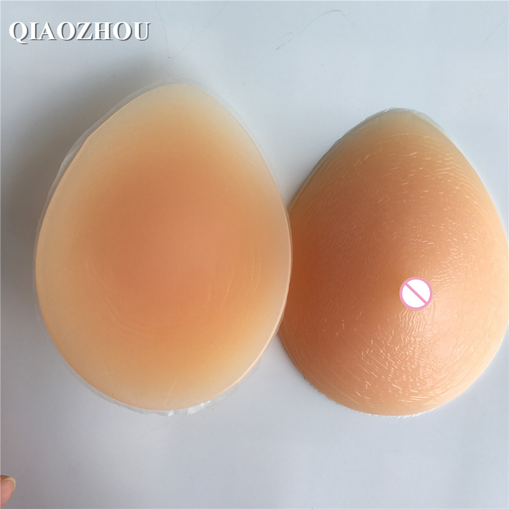 700 g/pair realistic mastectomy silicone breast form pad teardrop shape medical false breasts prosthesis 42d 44b cup big realistic silicone breast prosthesis false boobs pad for mastectomy 1200g