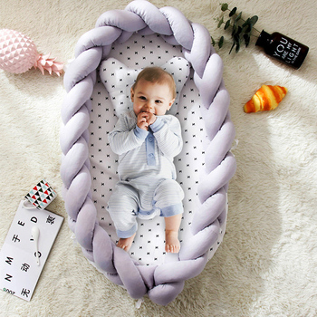 Newborn Baby Knit Portable Removable and Washable Crib Travel Bed Nest Bed Crib Multifunction Toddler Cradle Crib for Dropship