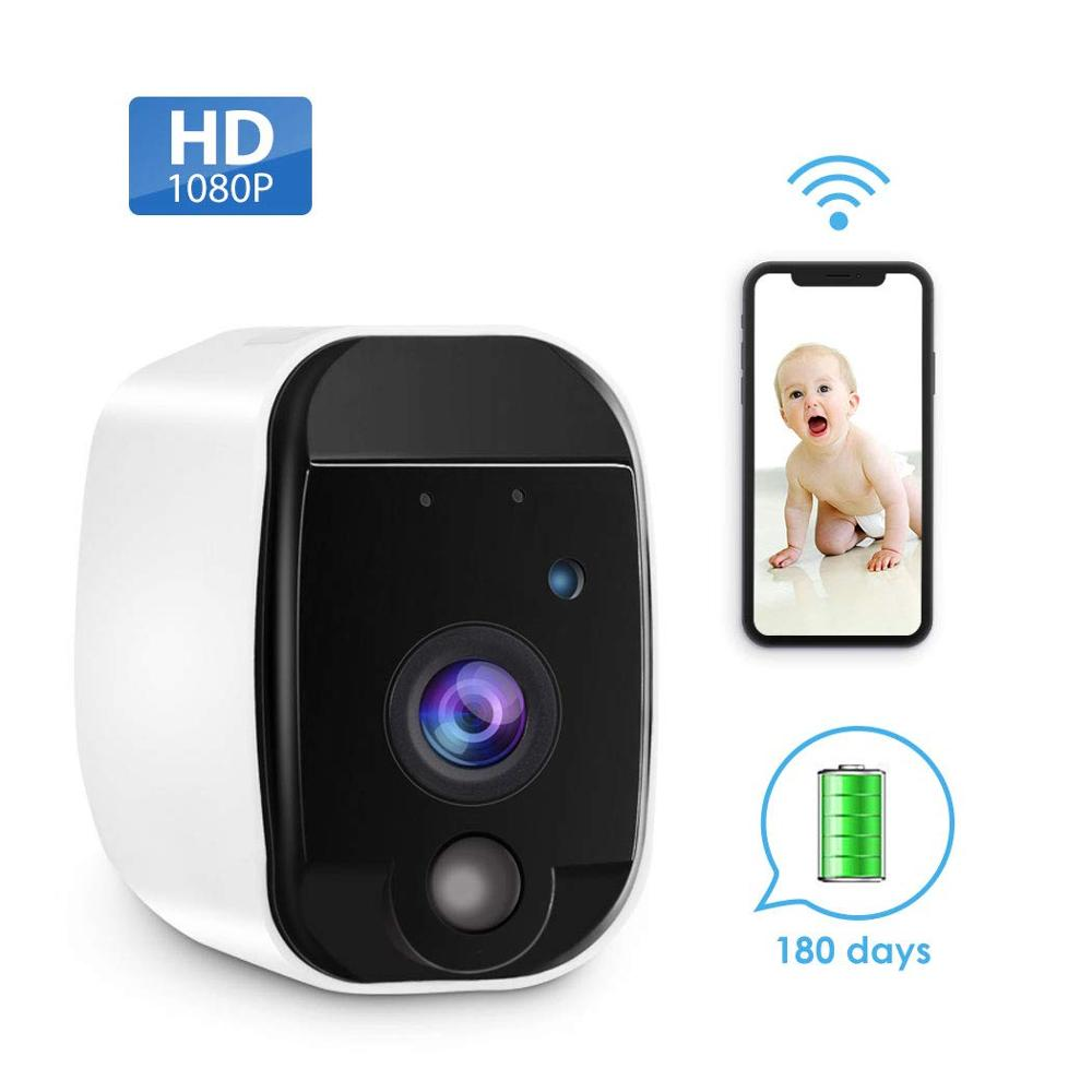 Wireless Home Security Camera with Rechargeable Battery, HD Video, Indoor/Outdoor, Motion Detection, Two Way Audio,Night Vision