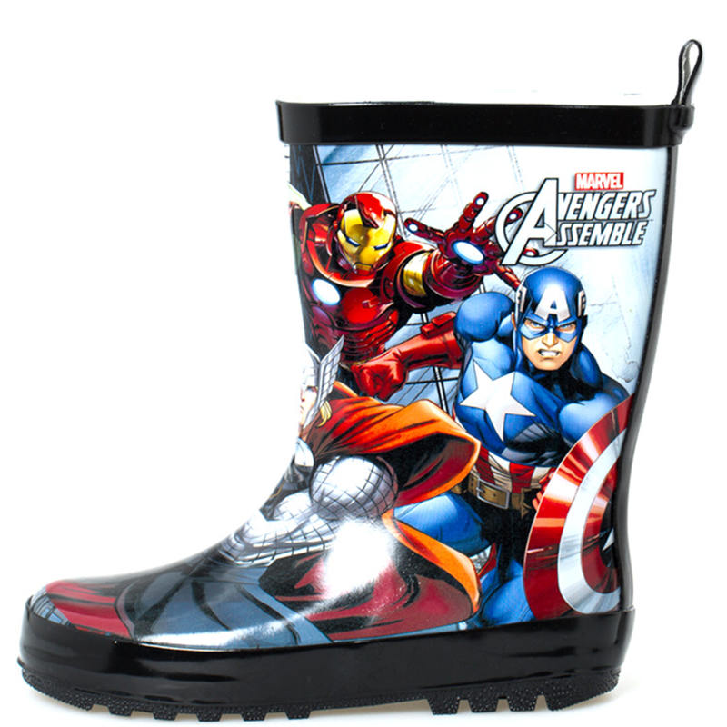 2019 New Disney Super Heroes Avengers Childrens Rain Boots Mens non-slip Water Shoes  size 27-402019 New Disney Super Heroes Avengers Childrens Rain Boots Mens non-slip Water Shoes  size 27-40