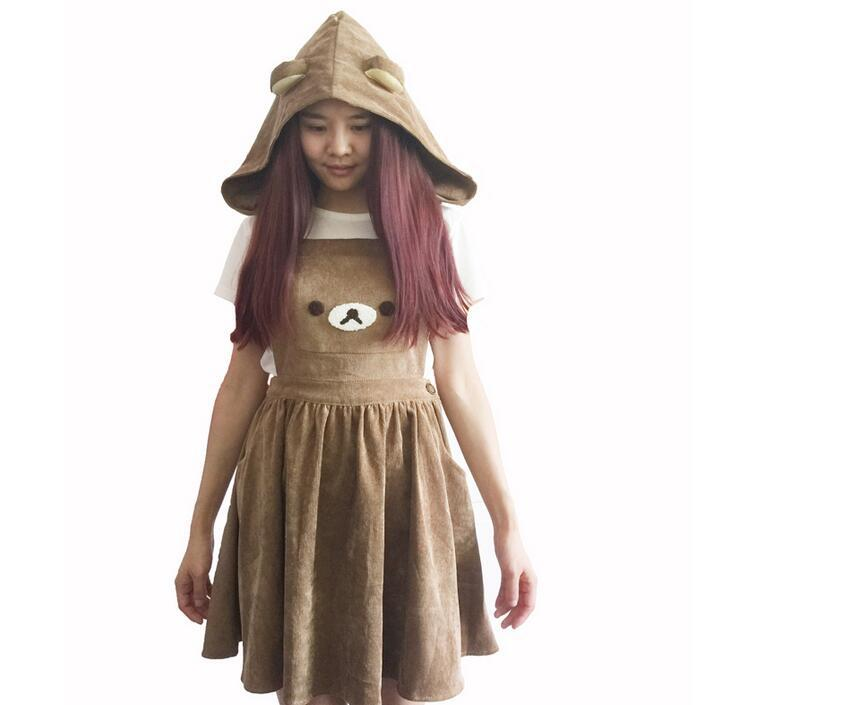 Bear Cosplay Costume Costume School Style With Hat Cosplay Halloween Stage Party  Figure Cosplay Suit Drop Ship