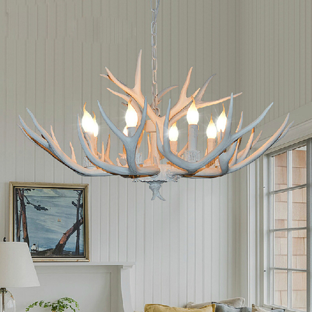Europe country 468 heads french pendant light white resin deer europe country 468 heads french pendant light white resin deer horn aloadofball Image collections